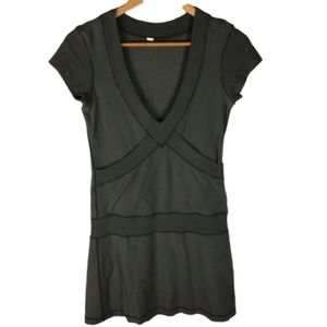 Lululemon Army Green V-Neck Dress with Pockets 4